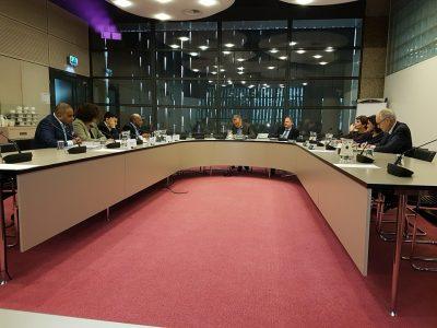Bijeenkomst met de vaste kamercommissie Buitenlandse Zaken en een delegatie van Papoea's