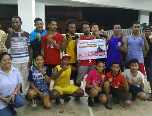 Succesvolle boksclub Percetekan Papua ontvangt donatie van Papua's in Nederland