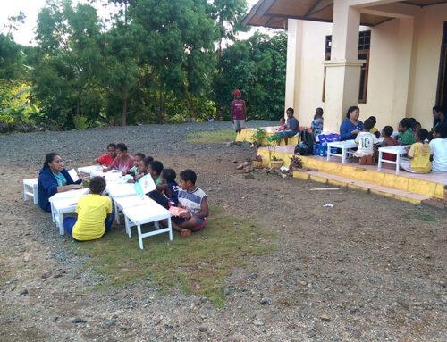 Bouw van leslokalen voor straatkinderen in Jayapura eindelijk van start