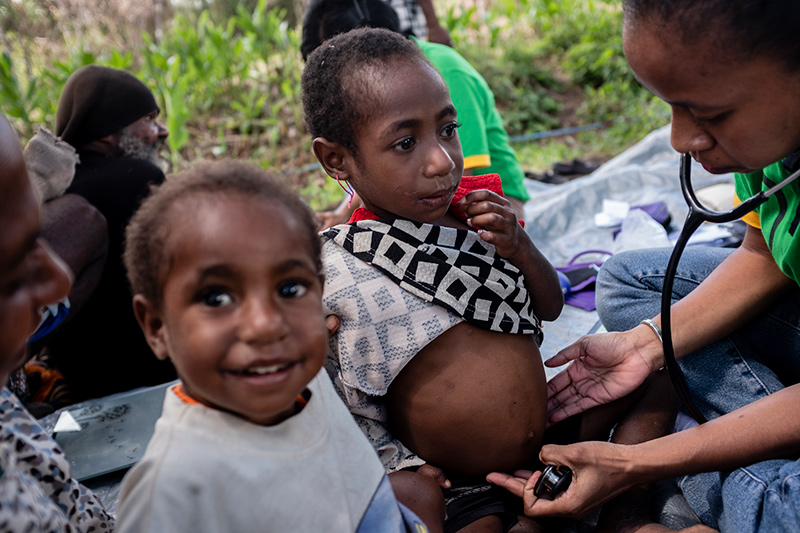 diagnostisch onderzoek kind Nduga Papua