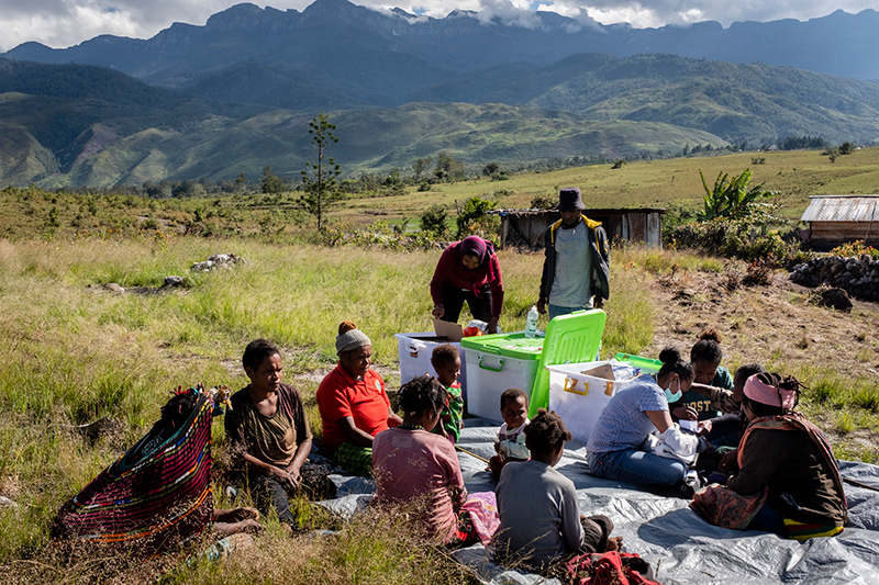 Aankomst team in Wamena Nduga