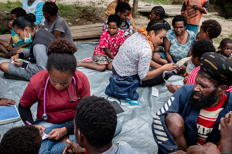 Opkomst patienten Nduga Papua