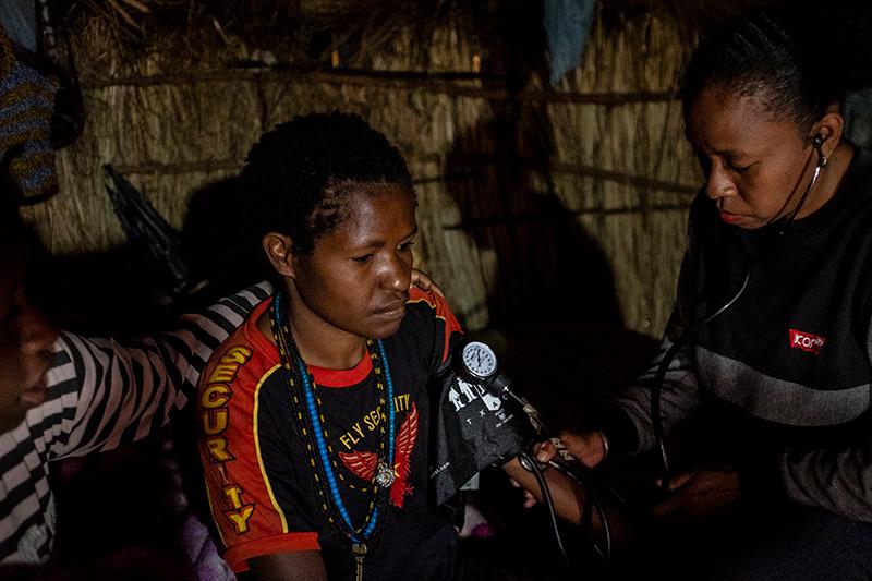 Bloeddruk meten Nduga Papua