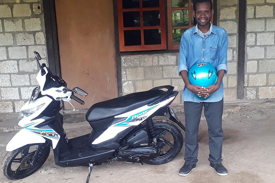 Otis Breiram - student Papua