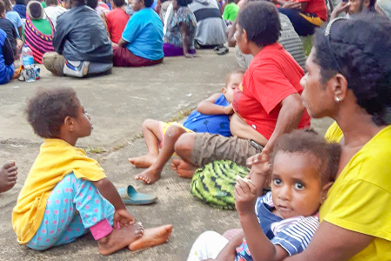 Sentani vluchtelingen papua